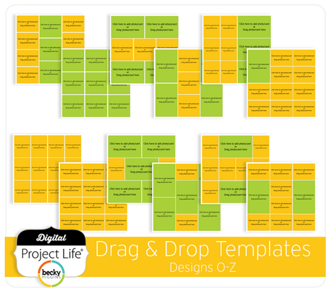 Drag & Drop Templates Designs O-Z