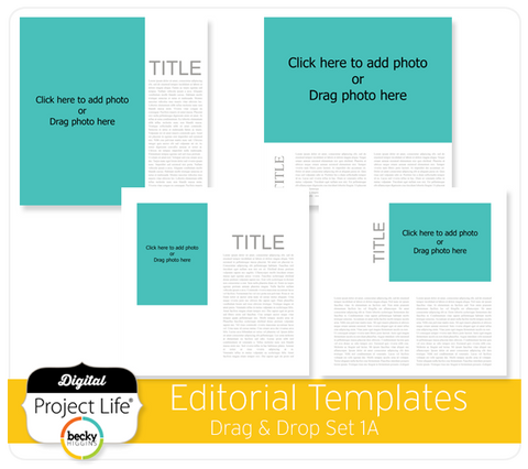 Drag & Drop Templates Editorial Set 1A