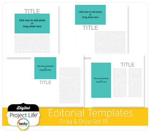 Drag & Drop Templates Editorial Set 1B