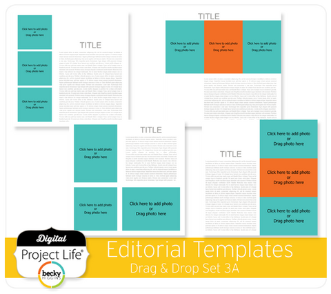 Drag & Drop Templates Editorial Set 3A
