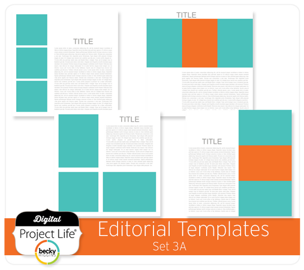Project Life Editorial Templates Set 3A