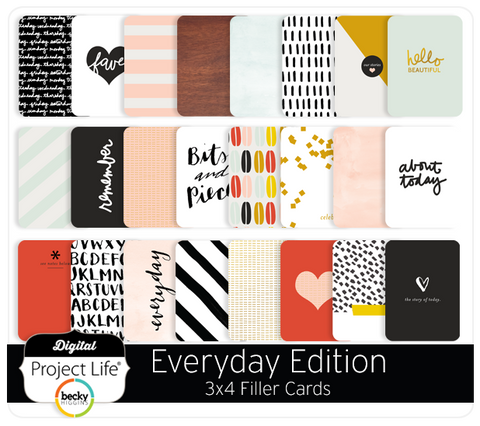 Everyday Edition 3x4 Filler Cards