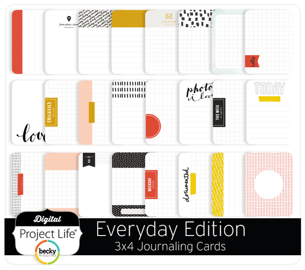 Everyday Edition 3x4 Journaling Cards