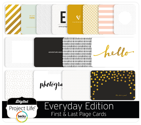 Everyday Edition First & Last Page Cards