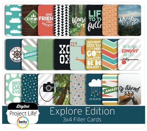 Explore Edition 3x4 Filler Cards