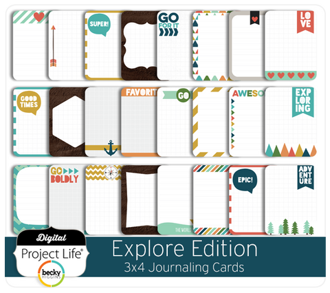Explore Edition 3x4 Journaling Cards