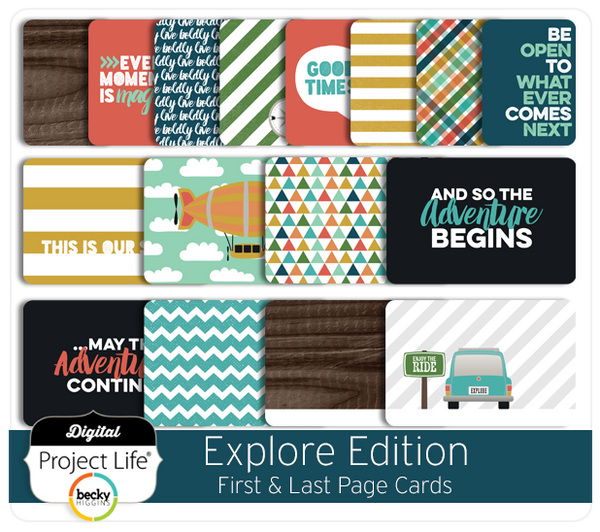 Explore Edition First & Last Page Cards