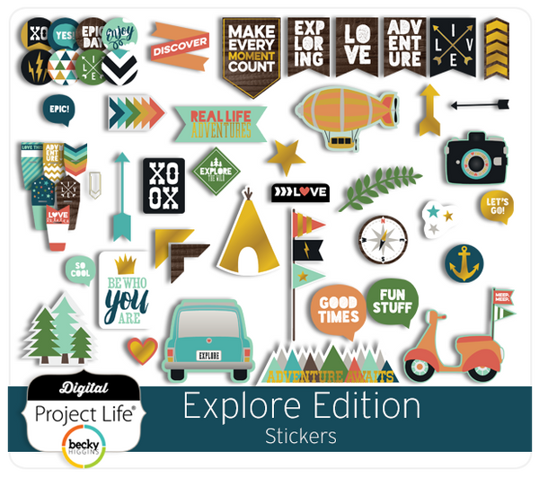 Explore Edition Stickers