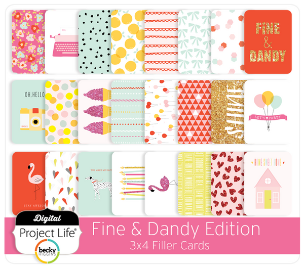 Fine & Dandy Edition 3x4 Filler Cards