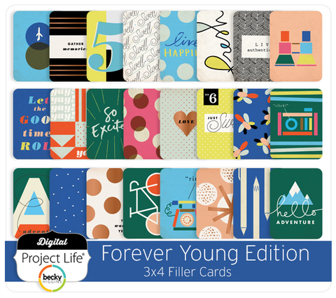 Forever Young Edition 3x4 Filler Cards
