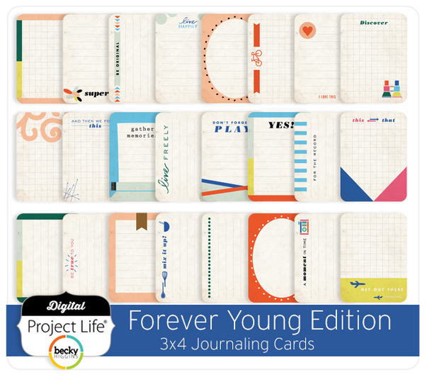 Forever Young Edition 3x4 Journaling Cards