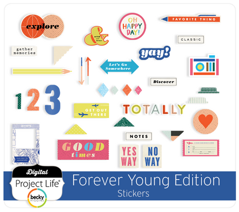 Forever Young Edition Stickers