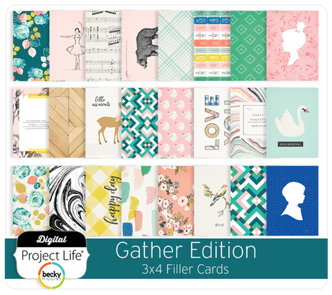 Gather Edition 3x4 Filler Cards