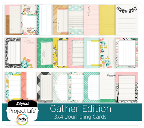 Gather Edition 3x4 Journaling Cards