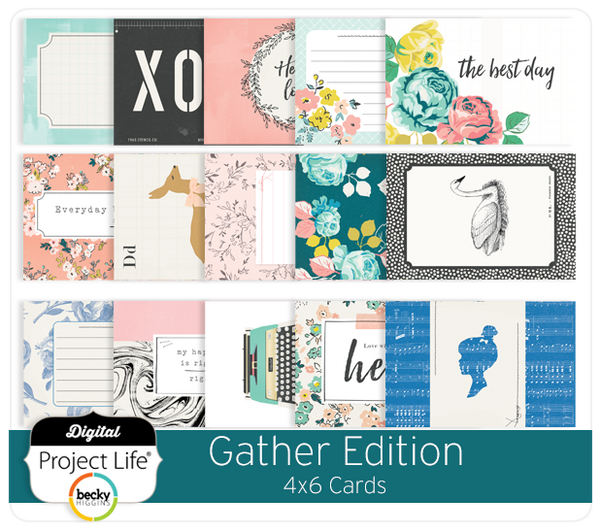 Gather Edition 4x6 Cards