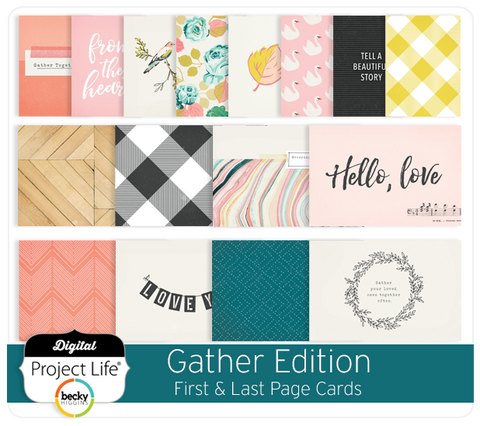 Gather Edition First & Last Page Cards