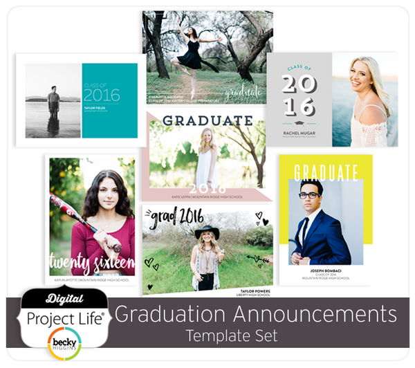 Graduation Announcements Card Set