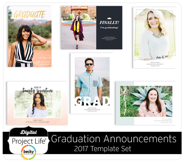 Graduation Announcements 2017 Card Set