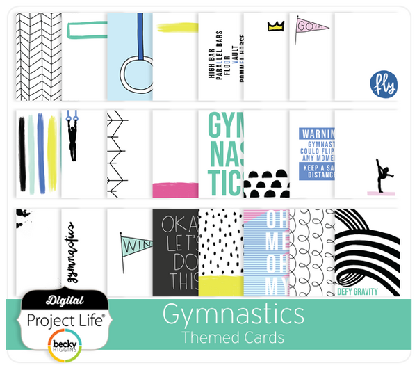 Gymnastics Themed Cards