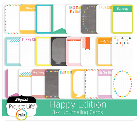Happy Edition 3x4 Journaling Cards