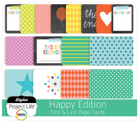 Happy Edition First & Last Page Cards