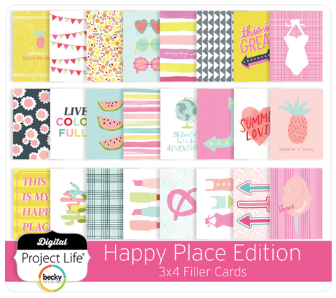 Happy Place Edition 3x4 Filler Cards