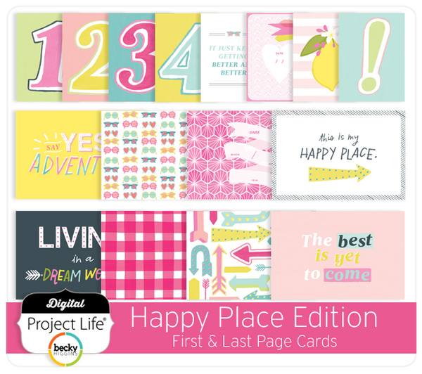 Happy Place Edition First & Last Page Cards