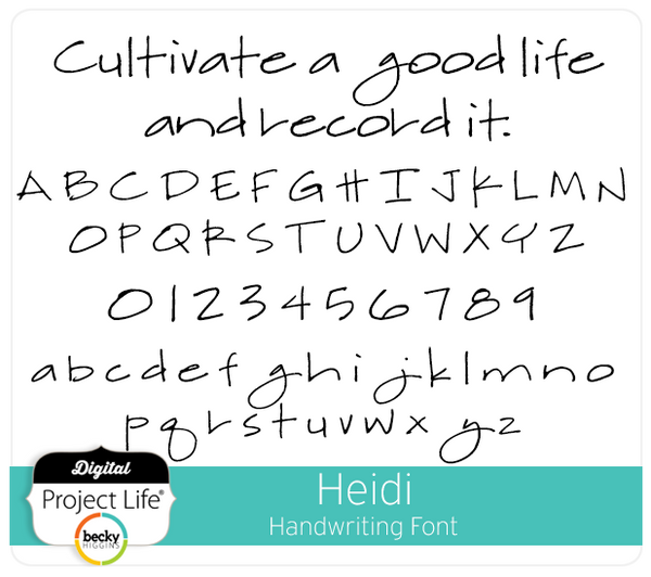 Heidi Handwriting Font