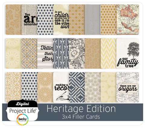 Heritage Edition 3x4 Filler Cards