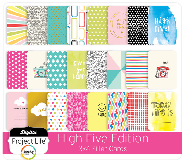 High Five Edition 3x4 Filler Cards