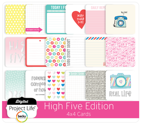 High Five Edition 4x4 Cards