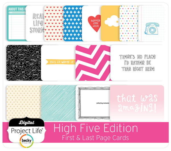 High Five Edition First & Last Page Cards