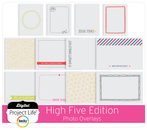 High Five Edition Photo Overlays