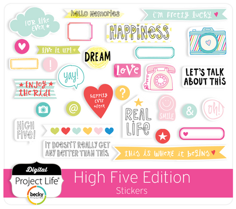 High Five Edition Stickers