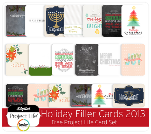 Project Life Holiday Freebie Filler 2013
