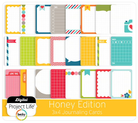 Honey Edition 3x4 Journaling Cards