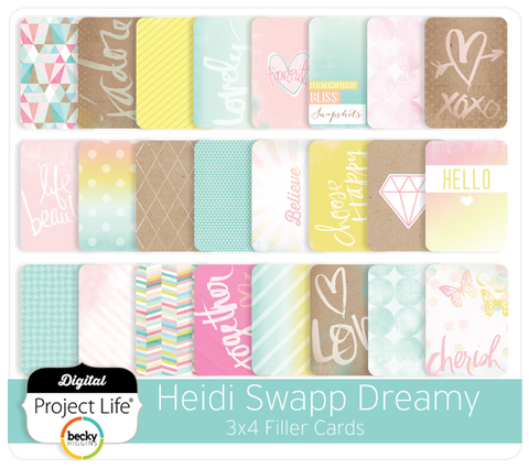 Heidi Swapp Dreamy Edition 3x4 Filler Cards