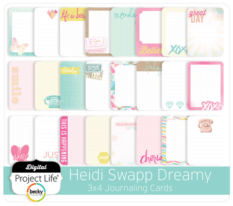 Heidi Swapp Dreamy Edition 3x4 Journaling Cards