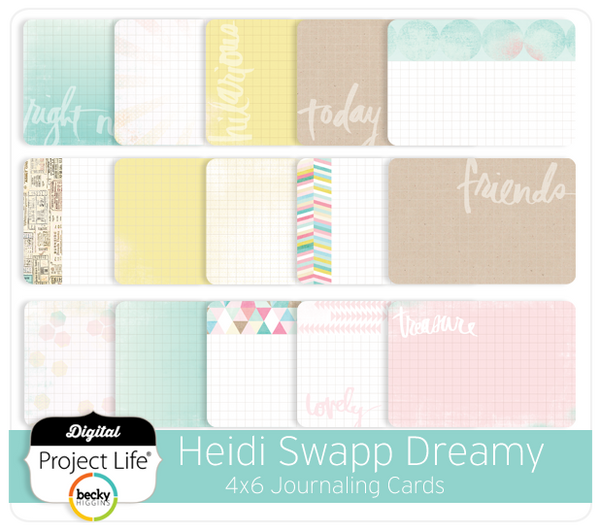 Heidi Swapp Dreamy Edition 4x6 Journaling Cards