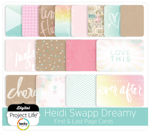 Heidi Swapp Dreamy Edition First & Last Page Cards
