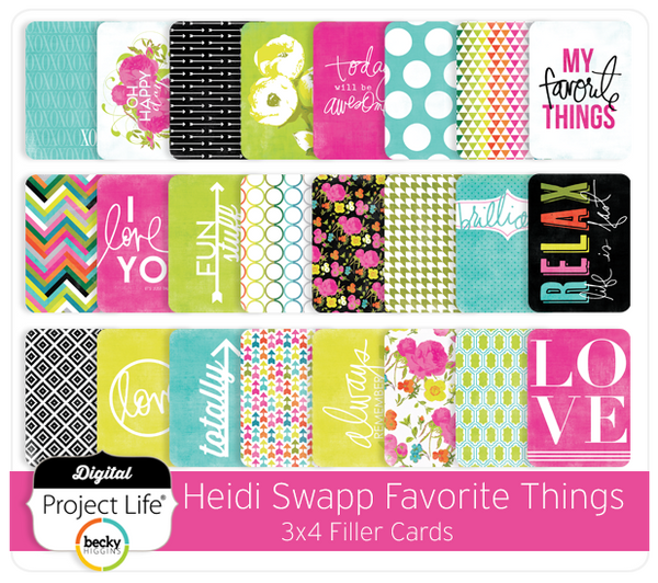 Heidi Swapp Favorite Things Edition 3x4 Filler Cards