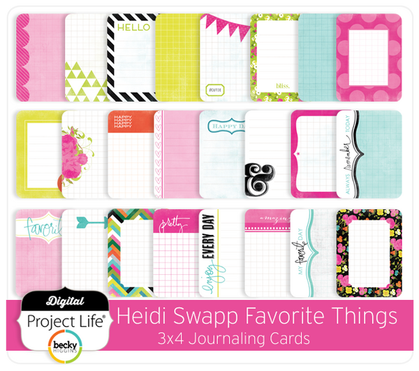 Heidi Swapp Favorite Things Edition 3x4 Journaling Cards