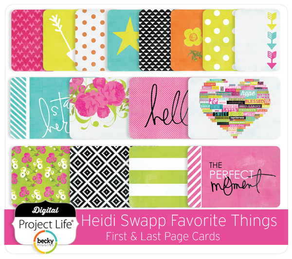 Heidi Swapp Favorite Things Edition First & Last Page Cards