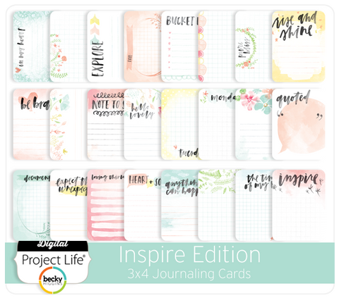 Inspire Edition 3x4 Journaling Cards