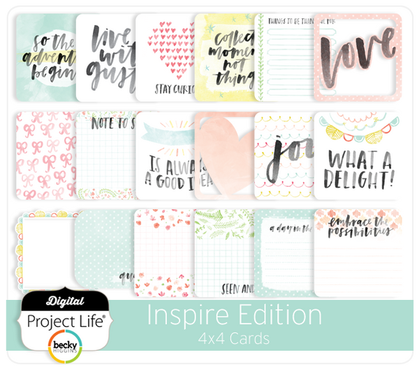 Inspire Edition 4x4 Cards