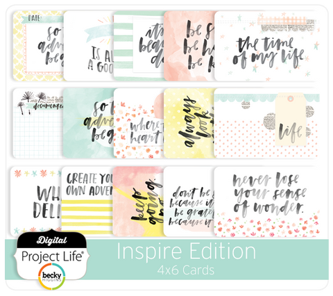 Inspire Edition 4x6 Cards