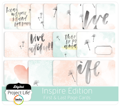 Inspire Edition First & Last Page Cards