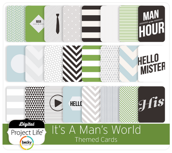 It's A Man's World Themed Cards