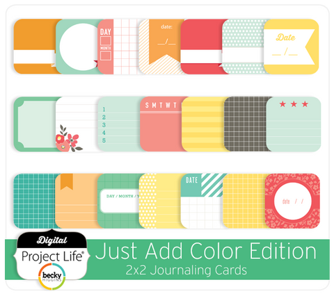 Just Add Color Edition 2x2 Journaling Cards