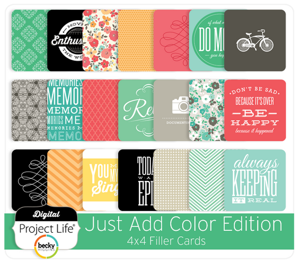 Just Add Color Edition 4x4 Filler Cards